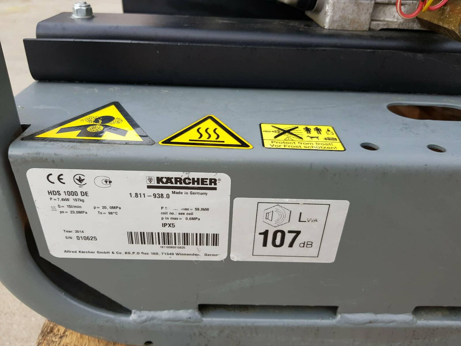 Kärcher HDS 1000 De 1.811-938.0 beheizter mobiler Hochdruckreiniger Diesel